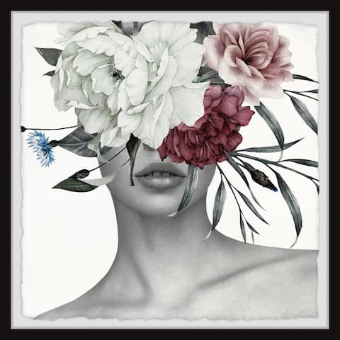 'Beautiful Bloom' Handmade Framed Floral Fashion Wall Art Print - Multi-color