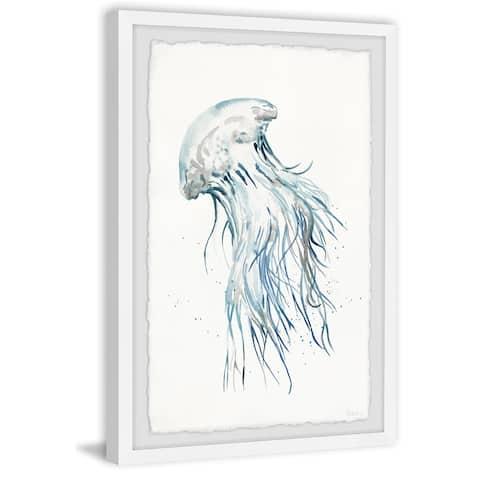 Handmade Luminous Jellyfish Framed Print