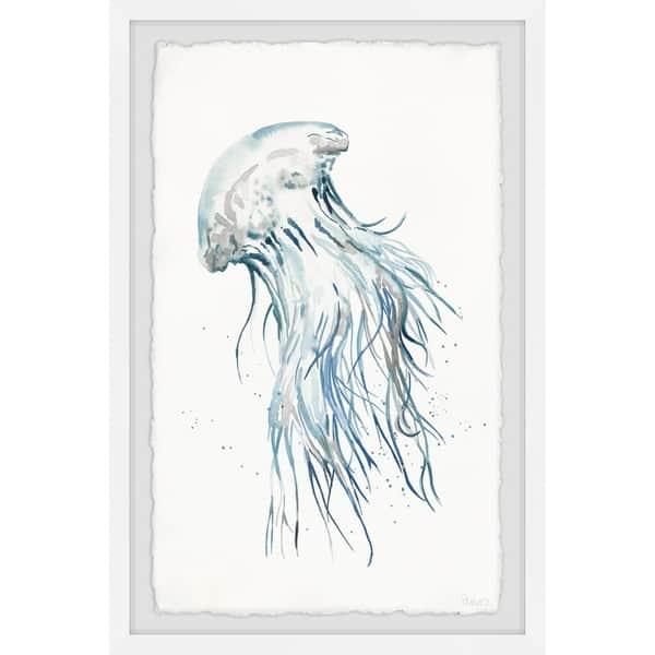 Handmade Luminous Jellyfish Framed Print Overstock 28038988