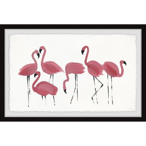 Handmade Flamingo Art Framed Print
