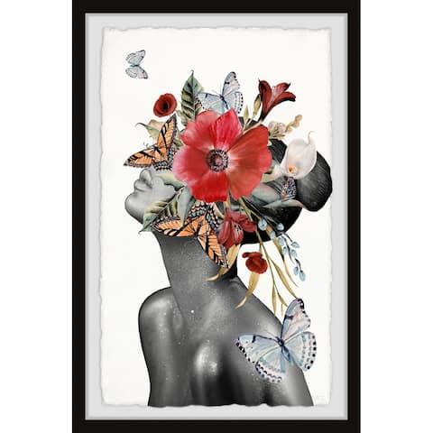 Handmade Butterfly Bloom Sight Framed Print