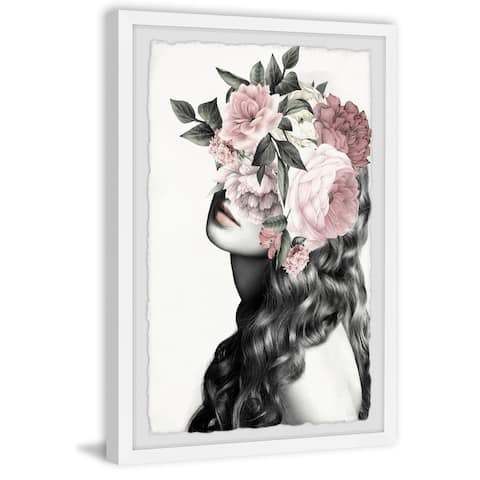 Handmade Curly Bloom Framed Print
