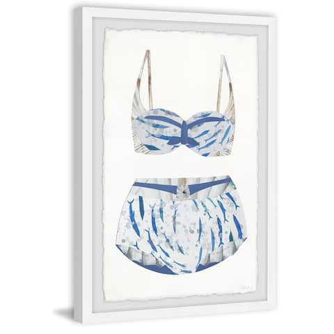 Handmade Dolphin Swimsuit Framed Print