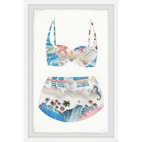 Handmade Coastal Beach Swimsuit Framed Print