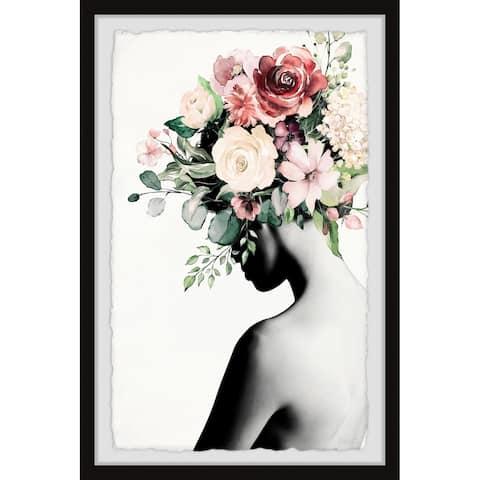 Handmade Blooming Back Framed Print