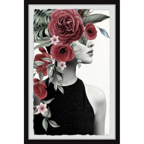 Handmade Red Blooms II Framed Print