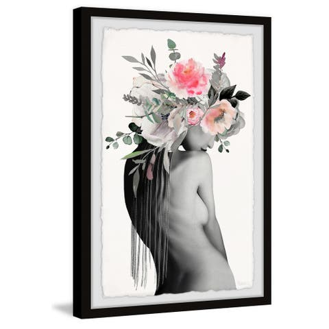 Handmade FlowerVeil Framed Print