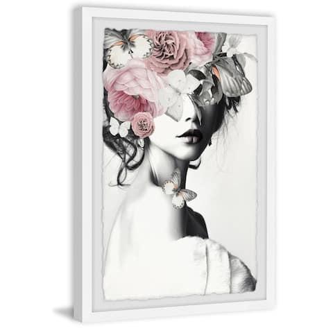 Handmade Pinky Floral Beauty II Framed Print