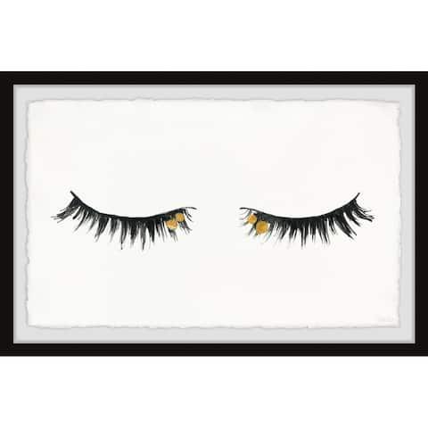 Handmade Golden Lashes II Framed Print