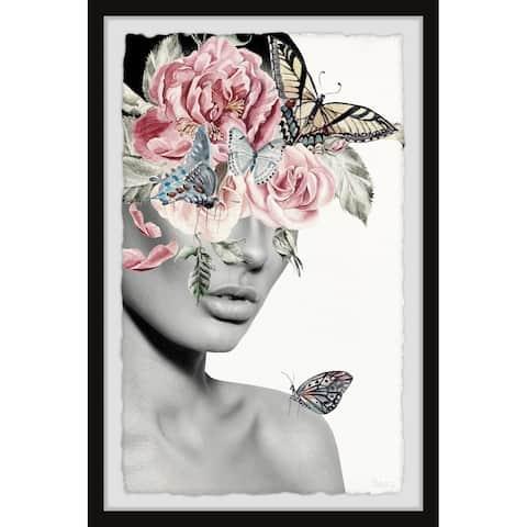 Handmade Blooming Floral Beauty II Framed Print
