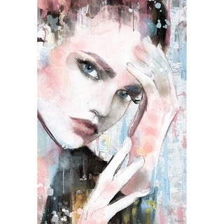 Handmade Thinking Face II Print on Wrapped Canvas