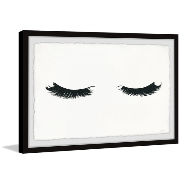 Handmade Curly Lashes Framed Print. Opens flyout.
