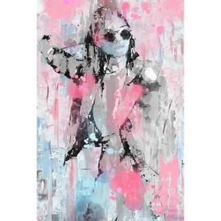 Handmade Urban Style Fashion Print on Wrapped Canvas