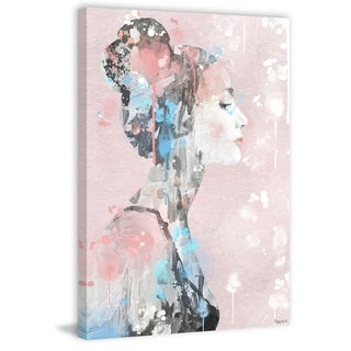 Handmade Paint Drippings Beauty Print on Wrapped Canvas