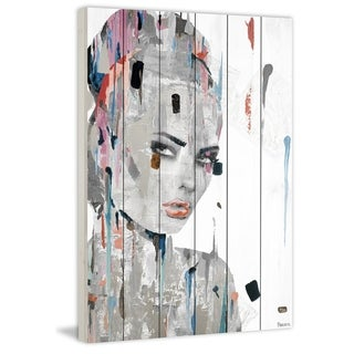 Handmade Beauty Stare Down Print on White Wood