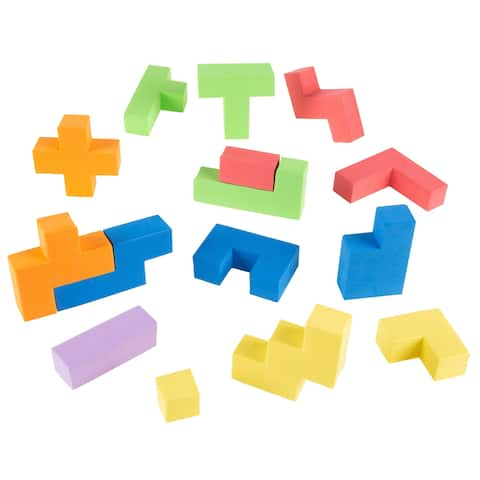 Foam Blocks- Sensory Building Puzzle Toy for Toddlers and Children- Creative Play and Spatial Learning by Hey! Play!