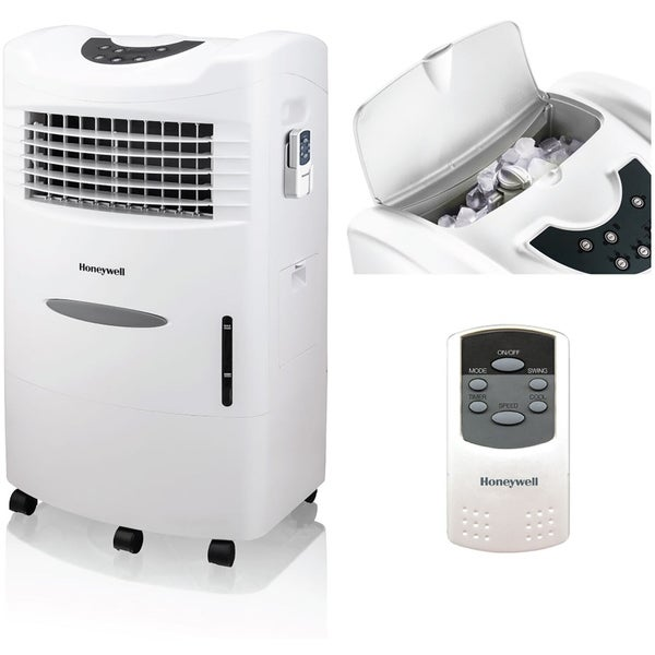 Honeywell 470 CFM Indoor Evaporative Air Cooler (Swamp Cooler) with Remote Control in White