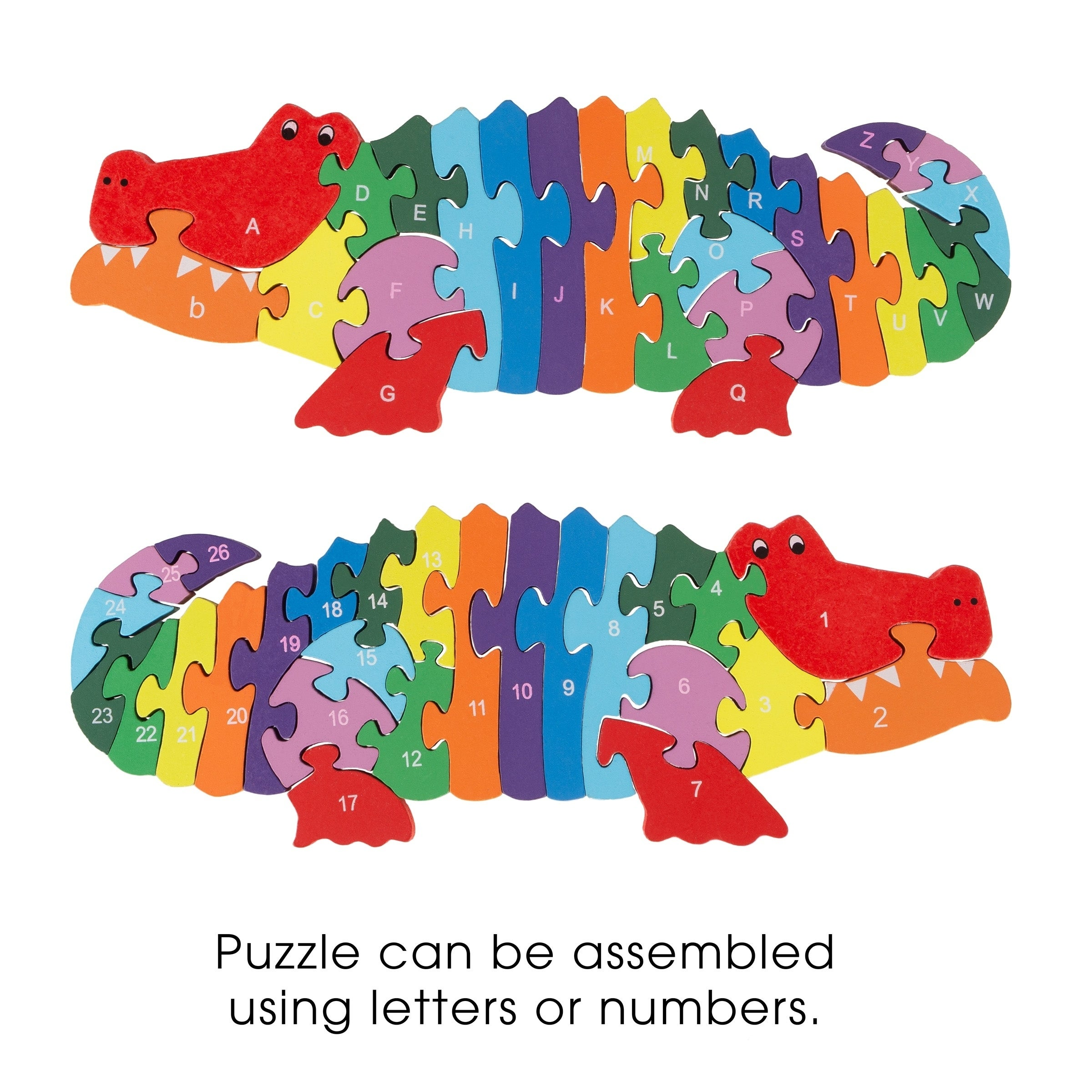 Funny Wooden Blocks Animals Kid Children Educational Toy Alphabet Puzzle Jigsaw