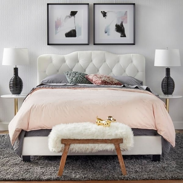 Simple Living Tessa Upholstered Queen Bed. Opens flyout.