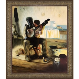 Henry Ossawa Tanner 'The Banjo Lesson' Hand Painted Oil Reproduction