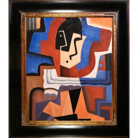 Juan Gris 'Harlequin' Hand Painted Oil Reproduction