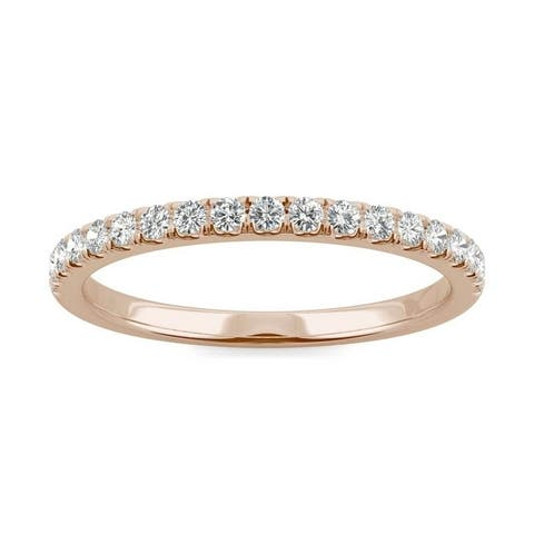 Moissanite by Charles & Colvard 14k Rose Gold 1/3ct DEW Traditional Wedding Band
