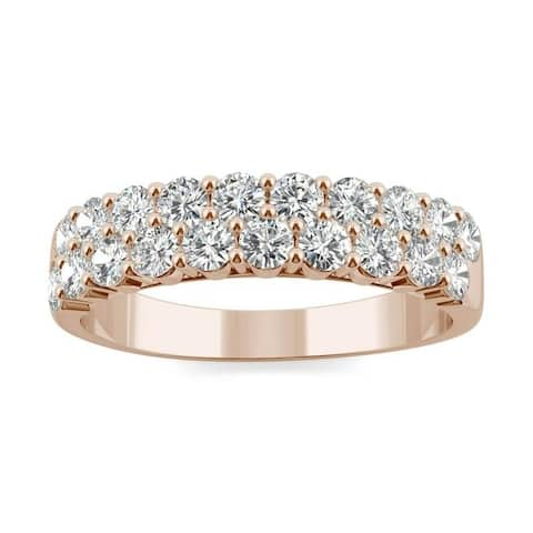 Moissanite by Charles & Colvard 14k Gold 1ct DEW Two Row Band