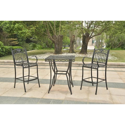 International Caravan Segovia 3-Piece Bar Height Bistro Set