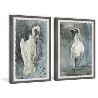 Marmont Hill - Handmade White Seagulls Diptych