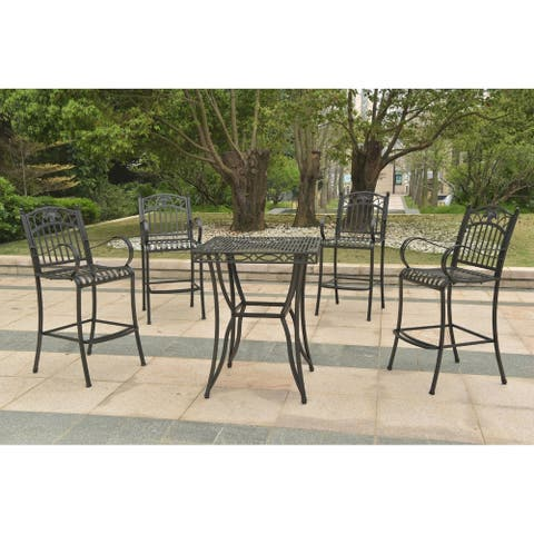 International Caravan Segovia 5-Piece Bar-Height Patio Set
