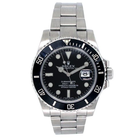 Pre-owned 40mm Rolex Stainless Steel Submariner Watch