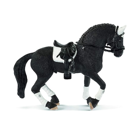 Schleich Horse Club, Frisian Stallion Riding Tournament Toy Animal Figure