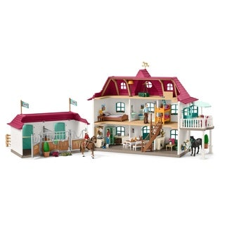Schleich Horse Club, Large Horse Stable with House & Stable Playset and Toy Figures