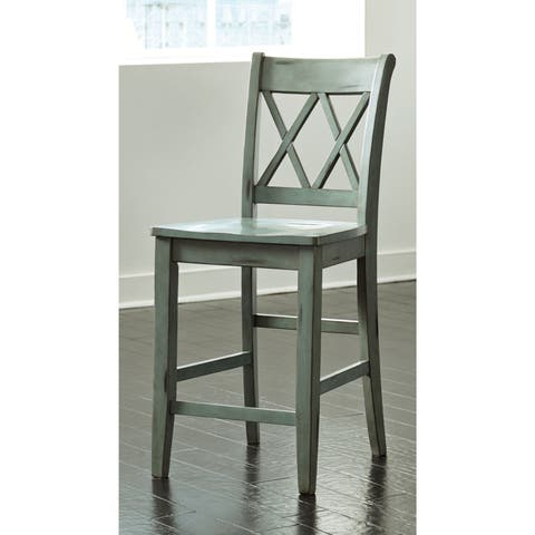 Signature Design by Ashley Mestler Wood Counter-height Bar Stool (Set of 2)