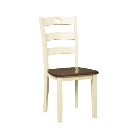 Woodanville Dining Room Chair - Set of 2 - Cream/Brown