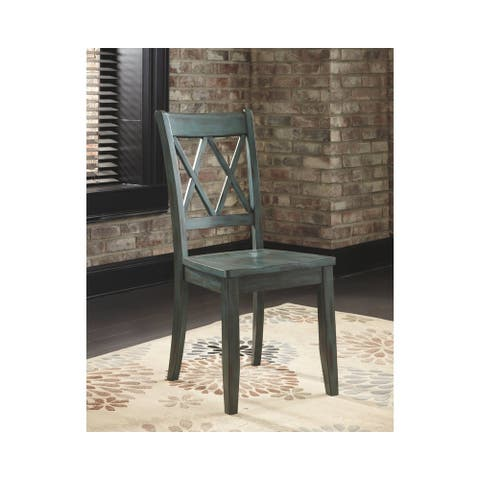 Mestler Dining Room Chair - Set of 2 - Blue/Green - N/A