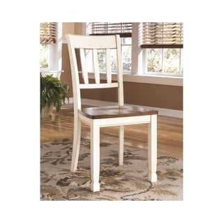 Whitesburg Dining Room Chair - Set of 2 - Brown/Cottage White