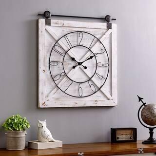 FirsTime & Co.® Farmstead Barn Door Wall Clock