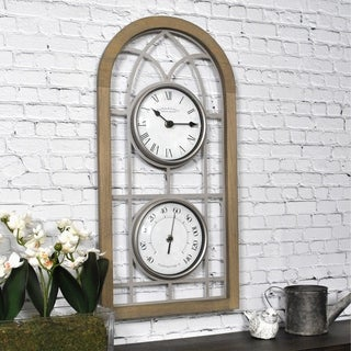 "FirsTime & Co.® Farmhouse Arch Outdoor Clock - 20"" x 10""W"