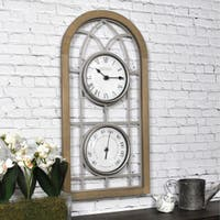 "FirsTime & Co.® Farmhouse Arch Outdoor Clock - 20"" x 10""W"