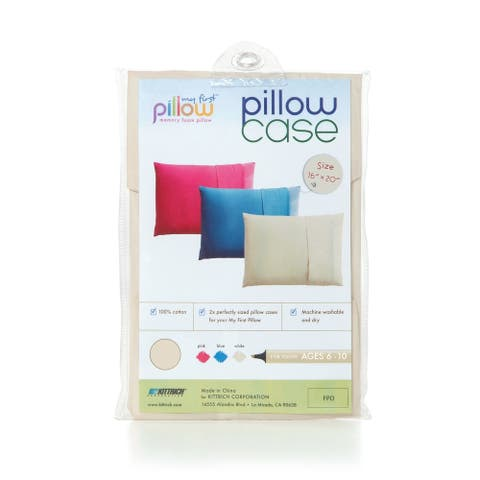 My First Pillow Set of Two Youth Pillow Cases, Cream