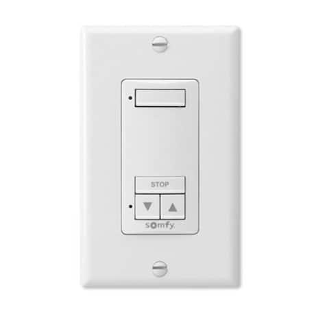 Somfy DecoFlex 1 Channel RTS Wireless Wall Switch