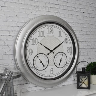 FirsTime & Co.® Radiant LED Outdoor Clock and Thermometer