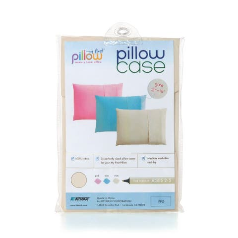 My First Pillow Set of Two Toddler Pillow Cases, Cream