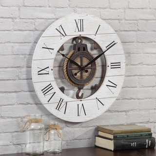 FirsTime & Co.® Shiplap Pulley Wall Clock - 19""