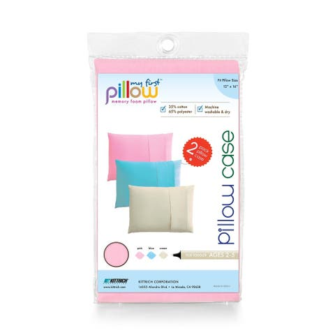 My First Pillow Set of Two Toddler Pillow Cases, Soft Pink