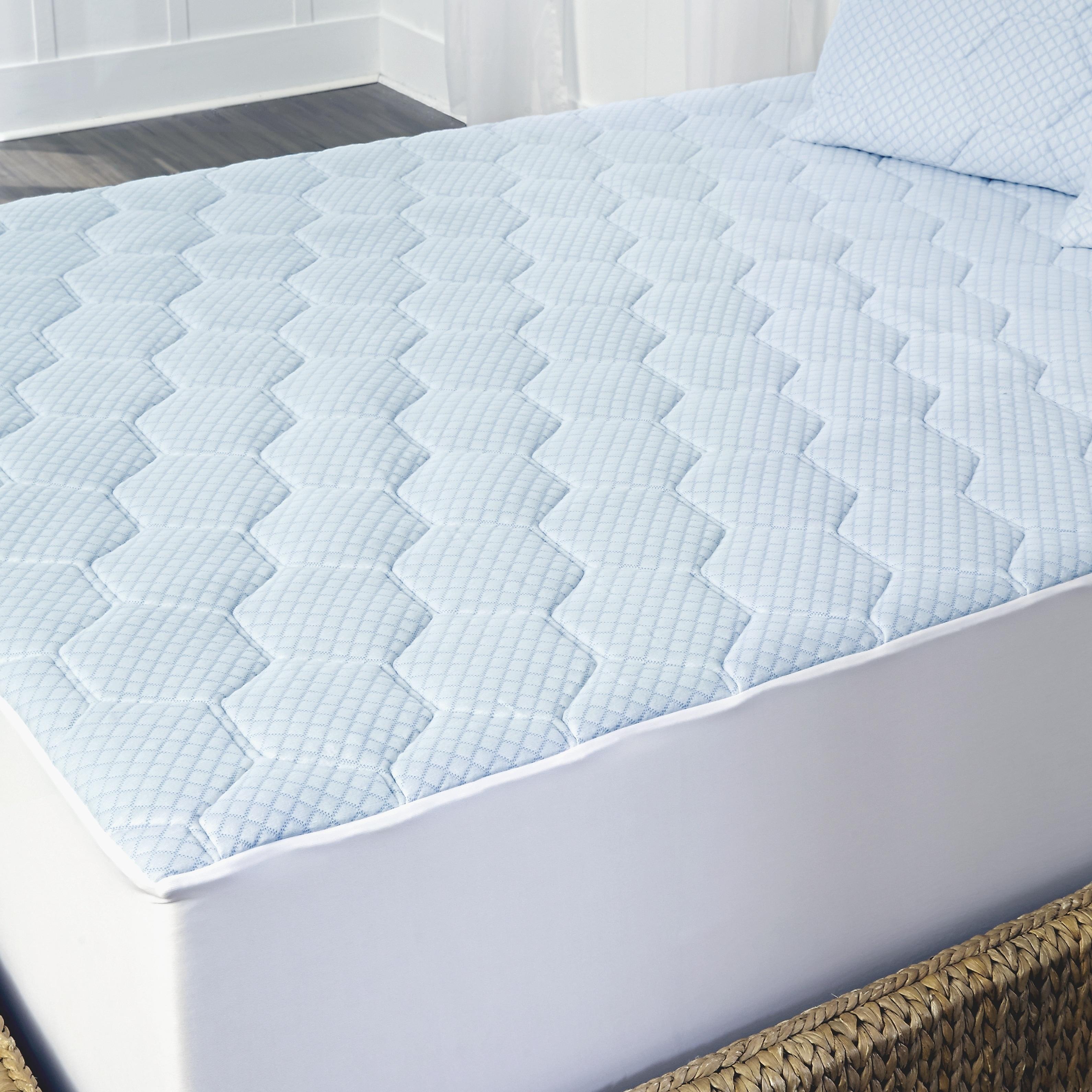 Arctic Sleep Cooling Gel Memory Foam Mattress Topper With Skirt On Sale Overstock 28040758
