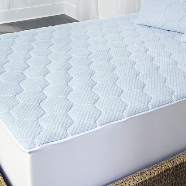 Arctic Sleep Cooling Gel Memory Foam Mattress Topper with Skirt