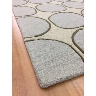 Deluxe Comfort Modern Style Big Beige Wool Handmade Indoor Area Rug - 5' x 8'