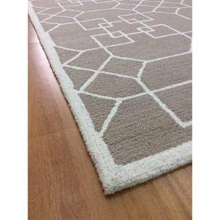 Brown Wool Handmade Area Rug - 5' x 8'